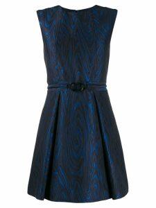 Kenzo wavy etched mini dress - Blue