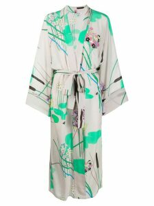 Bernadette Peignoir floral kimono dress - Grey