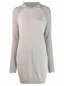 D.Exterior hooded sweater dress - Grey