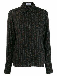Salvatore Ferragamo printed shirt - Black