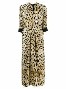 Prada animal print midi dress - Neutrals