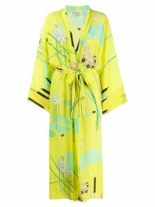 Bernadette Peignoir floral kimono dress - Yellow