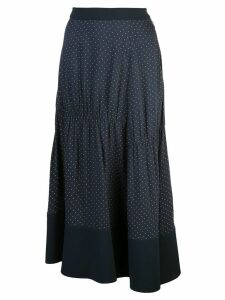Tibi pindot shirred panel skirt - Blue