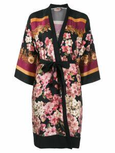 Twin-Set floral print kimono - Black