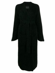 Roberto Collina belted coat - Black