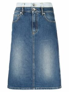 Maison Margiela double-denim skirt - Blue