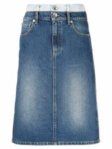 Maison Margiela double-denim skirt - Blue