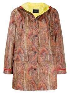 Etro Paisley printed parka coat - Orange