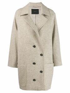 Frenken double-breasted coat - Neutrals