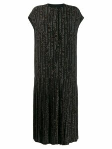 Salvatore Ferragamo printed Gancini dress - Black