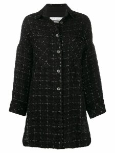 Iro oversized tweed coat - Black