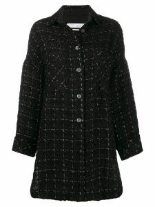 Iro oversized tweed coat - Black