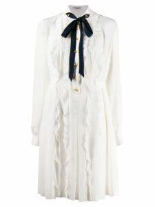 Miu Miu pussycat bow dress - White