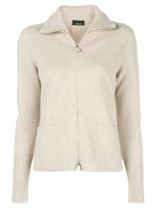 Akris cashmere zip knitted cardigan - Neutrals