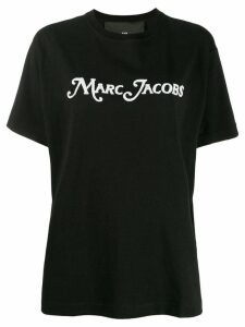 Marc Jacobs bead embroidered logo T-shirt - Black