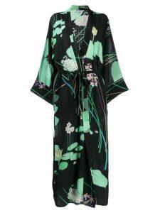 Bernadette Peignoir floral kimono dress - Black