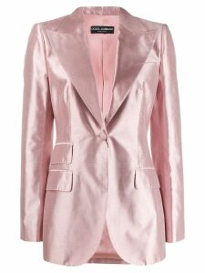 Dolce & Gabbana tailored satin blazer - Pink