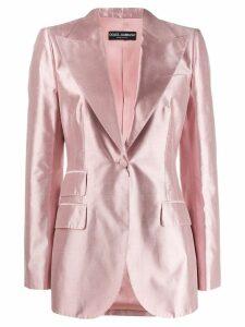 Dolce & Gabbana tailored satin blazer - PINK