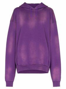 Martine Rose sunbleached effect hoodie - PURPLE