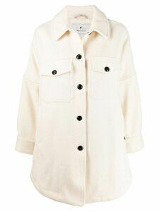 Woolrich curved hem coat - Neutrals