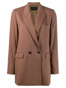 Frenken classic double-breasted blazer - Brown