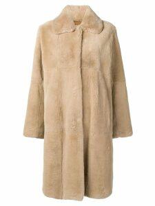 Manzoni 24 collared coat - NEUTRALS