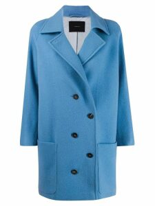 Frenken double-breasted coat - Blue