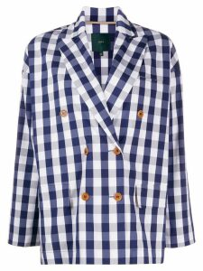 Jejia double-breasted check blazer - Blue