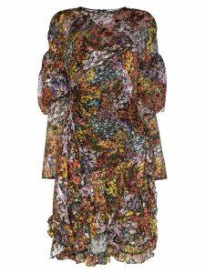 Preen By Thornton Bregazzi Belle ruffled floral dress - ORANGE