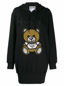 Moschino Teddy Bear hoodie dress - Black