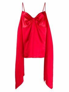 Mm6 Maison Margiela draped slip top - Red