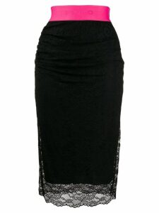 Pinko contrast waist skirt - Black