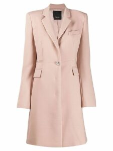 Pinko fitted single-breasted coat - Neutrals