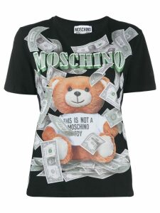 Moschino teddy bear print T-shirt - Black