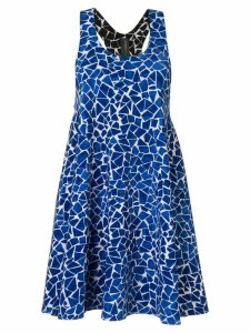 Norma Kamali reversible mosaic slip dress - Blue
