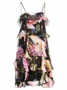 Nicole Miller floral tiered dress - Multicolour