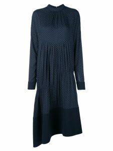 Tibi pindot shirred dress - Blue