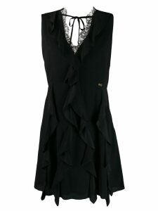 Cavalli Class ruffled mini dress - Black