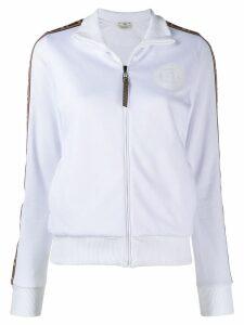 Fendi FF ribbon zip-front jacket - White