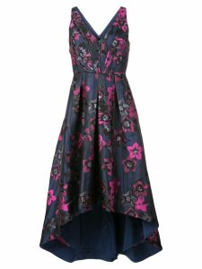 Aidan Mattox floral print midi dress - Blue