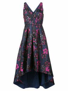 Aidan Mattox floral print midi dress - Blue