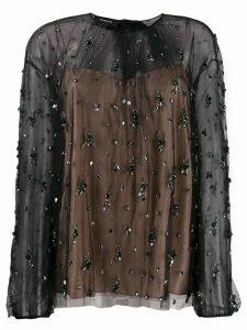 Rochas crystal embellished blouse - Black