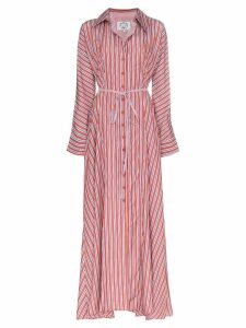 Evi Grintela Victoria stripe maxi dress - Red