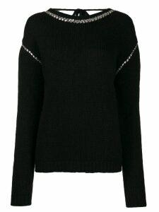 Rochas crystal appliqué jumper - Black