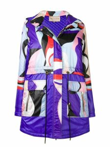 Emilio Pucci Vallauris Print Panelled Coat - Purple
