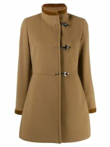 Fay velvet trim coat - Brown