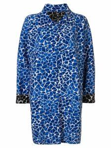 Norma Kamali reversible mosaic overcoat - Blue