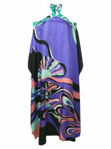 Emilio Pucci Copacabana Print Halterneck Silk Dress - PURPLE