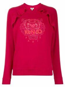 Kenzo tiger embroidered ruffle sweatshirt
