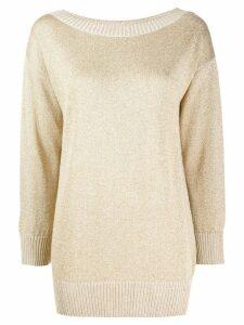 P.A.R.O.S.H. boat neck sweatshirt - Gold